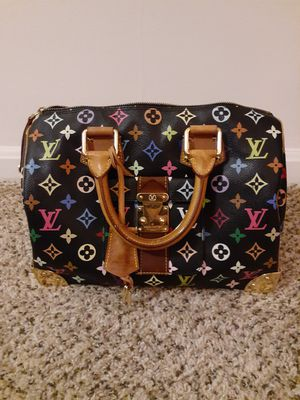 Genuine Louis Vuitton SPEEDY size 30 black with colorful monogram for Sale in Arlington, VA