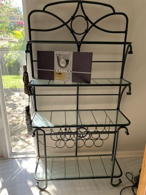 Iron Baker's Rack with wine rack for Sale in Pinecrest, FL