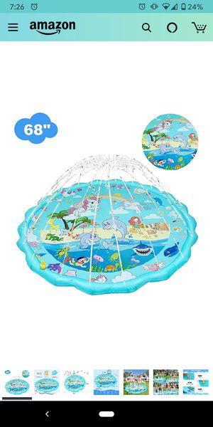 RLGPBON Sprinkler for Kids, Splash Pad, and Wading Pool ,Children's Sprinkler Pool, 68'' Inflatable Water Toys Outdoor Swimming Pool for Sale in San Diego, CA