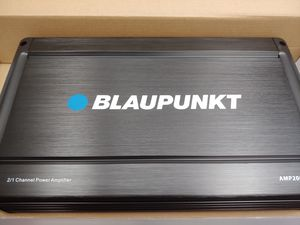 Brand new : BLAUPUNKT 2000 watts ab class amplifier 2 0hm built in crossover 25a×2 fuses remote sub control for Sale in Bell Gardens, CA