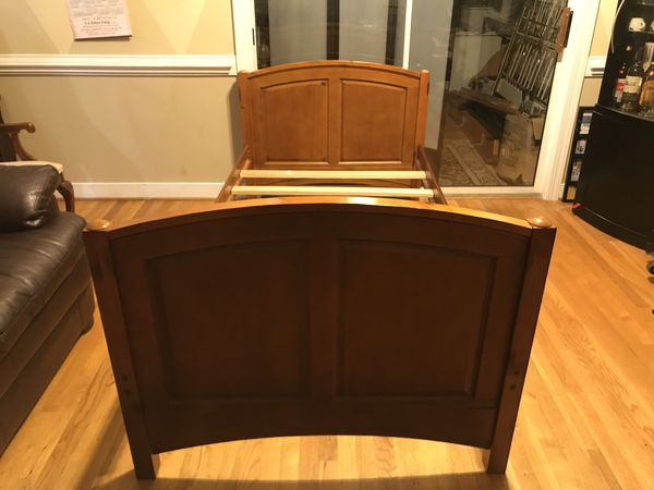 Solid wood twin size bed frame for sale