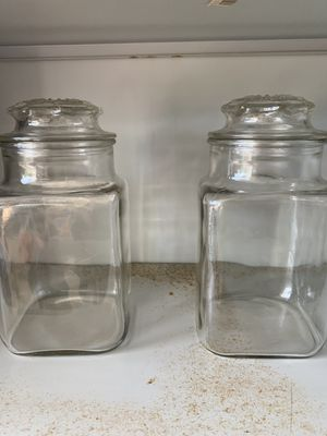 2 MATCHING GLASS JARS for Sale in Garden Grove, CA