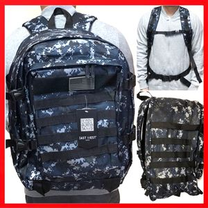 Brand NEW! Blue Camouflage Large tactical military style Backpack molle system hiking gym work camping travel bag for Sale in Los Angeles, CA
