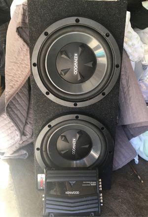 "2 12"" kenwood subs and 400 watt amp for Sale in San Antonio, TX"