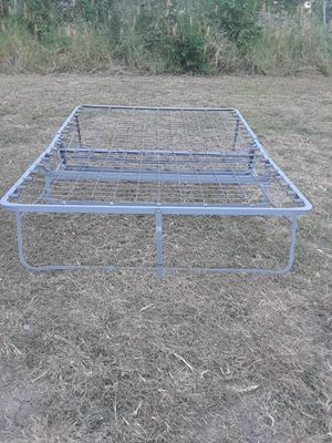 Full Size Metal Bed Frame with wheels 40. for Sale in Princeton, TX