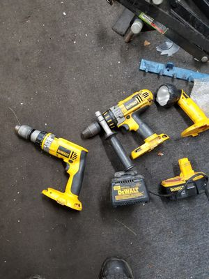 2 impact drills,flashlight,battery and charger for Sale in Brooklyn Park, MD
