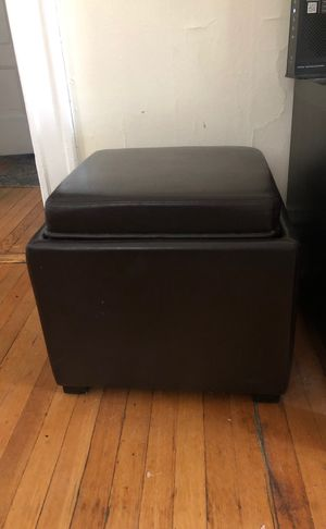 2 Leather Storage Container- reversible for Sale in Chicago, IL