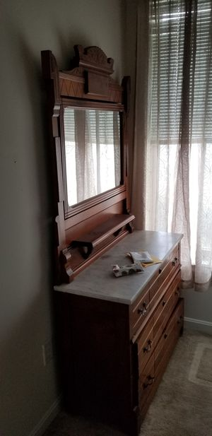 Antique dresser with mirror for Sale in Manassas, VA