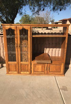 Wood small entertainment center for Sale in Phoenix, AZ