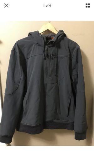 Glacier's Edge Men's Gray Water Resistant Fleece Lined Jacket Coat Hoodie XL for Sale in Portland, OR