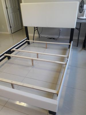 Brand new white upholstered full size bed frame for Sale in Aiea, HI