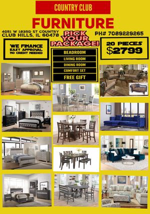 Full hose furniture for Sale in Country Club Hills, IL