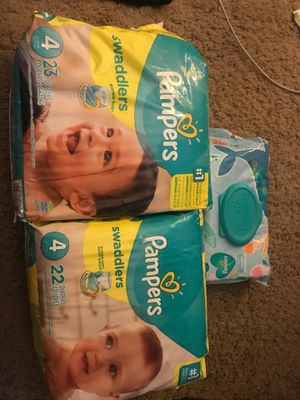 2 pack of Pampers size 4 for Sale in Laurel, MD