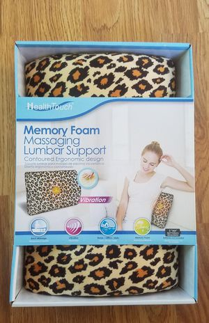 *New in Box* Health Touch Memory Foam Massaging Lumbar Support for Sale in Leesburg, VA