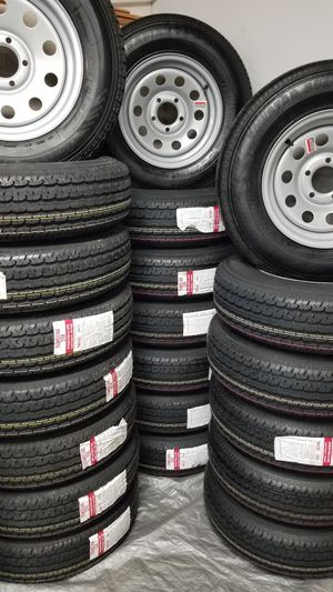 NEW TRAILER AND CAMPER TIRES/WHEELS STARTING AT $70+TAX AND UP SEE BELOW FOR PRICES AND SIZES for Sale in Douglasville, GA