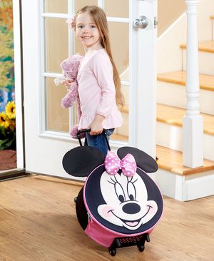 KIDS OVERNIGHT ROLLING LUGGAGE Minnie and Mickey for Sale in Eureka Springs, AR