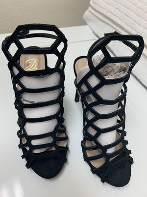 Black Crisscross Strappy Heels - Size 7.5 for Sale in Las Vegas, NV