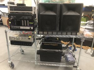 DJ AUDIO EQUIPMENT! CROWN, MEYERS, BEHRINGER, PYLE, EV, CONTROLLER, SPEAKERS, FOG MACHINES, LIGHTING & MORE! for Sale in Welby, CO
