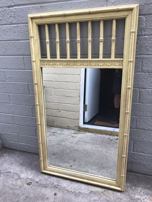 Tiki bamboo Style mirror 26 long 47 tall for Sale in San Diego, CA