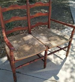 French Country Farmhouse Bench / Loveseat, Red Distressed Wood for Sale in Mesa,  AZ