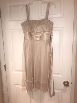 Woman's size 12 brand new with tag champagne color dress for Sale in Princeton, NJ