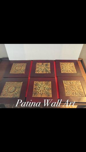 Home Decor Patina Wall Art Rustic Tin and Wood Artwork Display for Sale in Arlington, TX
