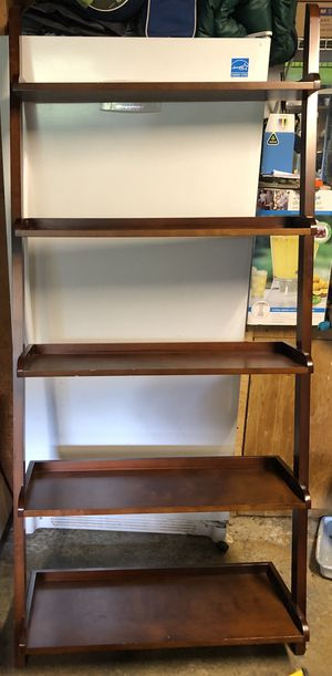 Pottery barn ladder studio shelf in espresso for Sale in Renton, WA