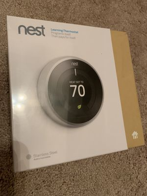 Nest Learning Thermostat Stainless Steel for Sale in Atlanta, GA