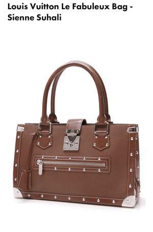 Authentic Louis Vuitton le fabuleux sienne suhali satchel leather bag euc for Sale in Phoenix, AZ
