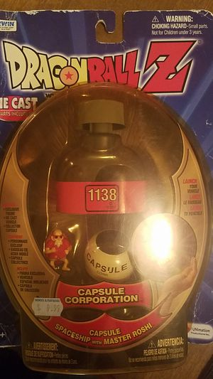 Dragonball Z Capsule Corporation Capsule Spaceship with Master Roshi Figure for Sale in San Antonio, TX