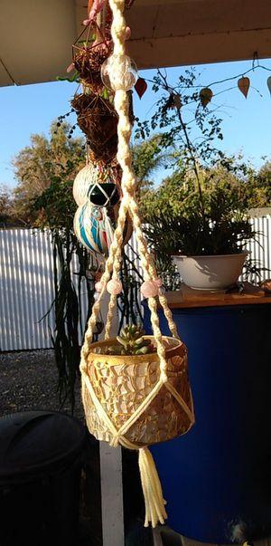 Succulent in macrame for Sale in Fontana, CA