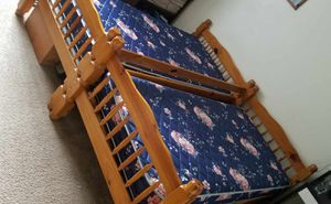 Two Wooden Twin Beds with Mattresses for Sale in Sacramento, CA
