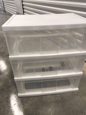 Plastic drawers for $15 for Sale in North Bay Village, FL