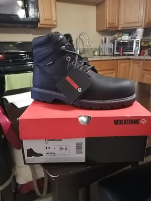 Brand new wolverine FLOORHAND work boots. Size 11. Steel toe. for Sale in Riverside, CA
