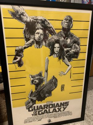 Mondo marvel guardians of the galaxy poster for Sale in Arlington, TX