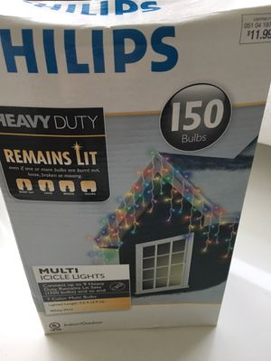 Philips multi icicle lights for Sale in Santa Monica, CA