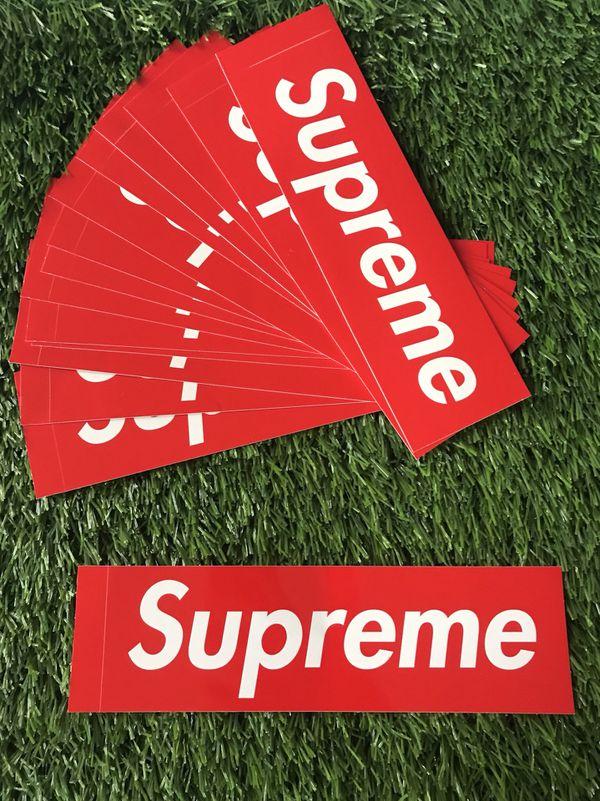 Supreme OG Box Logo Sticker Lot Brand New (5 Pieces)
