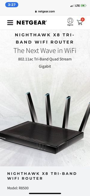 Nighthawk X8 Tri-Band Router Netgear for Sale in Fort Myers, FL