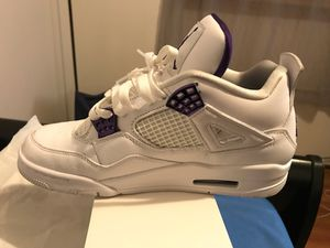 Jordan 4's (Purple Metallic) Size 8.5 for Sale in Bell Gardens, CA