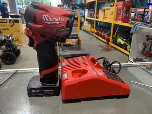 Milwaukee M12 FUEL 12Brushless Cordless Stubby 3/8 in. Impact Wrench kit with 6.0 battery in charger for Sale in Acworth, GA