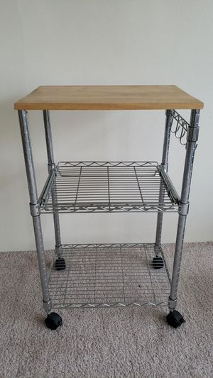 Kitchen cart with Wood Top for Sale in Chicago, IL