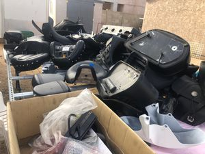Motorcycles lot parts different brand lot seats for Sale in Phoenix, AZ