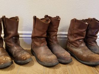 Lot Of Mens Steel Toe Red Wing Work Boots for Sale in Las Vegas,  NV