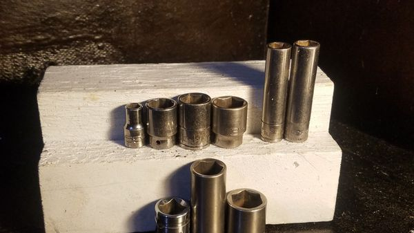 MATCO, SNAP ON & CORNWELL METRIC SOCKETS