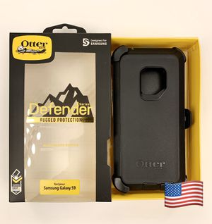 S9 Samsung Galaxy OtterBox with Belt Clip Holster BLACK for Sale in Santa Clarita, CA