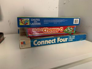 Board games - Chutes and Ladders + Hi Hi Cherry O + Connect Four 4 for Sale in North Miami, FL