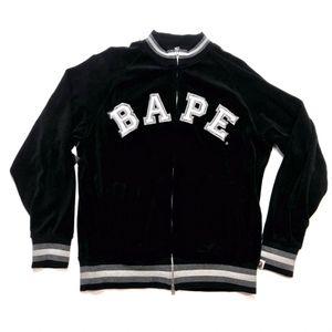 A Bathing Ape Varsity Jacket Black Grey Bape Size Medium M for Sale in Tracy, CA