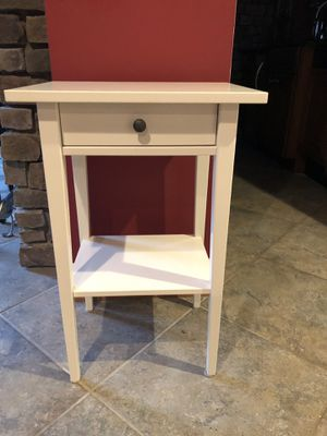 """Side table. Sold by IKEA for much more. 27 3/4"""" tall 18 1/4"""" wide 14"""" deep. for Sale in Gambrills, MD"""