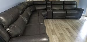 Large sectional leather/lounging couch $1450 for Sale in Snellville, GA