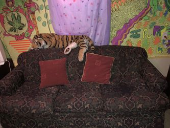 Free couch pull out bed queen size will need a queen size mattress for Sale in Stone Mountain,  GA